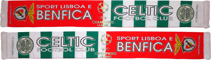 Cachecol Cachecóis Benfica Celtic Champions 2006 2007