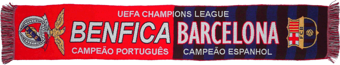 Cachecol Cachecóis Benfica Barcelona Champions League 2005-2006
