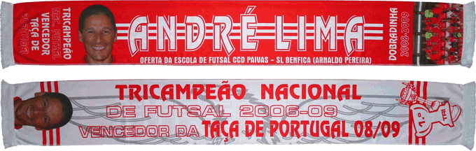 Cachecol Benfica Futsal André Lima