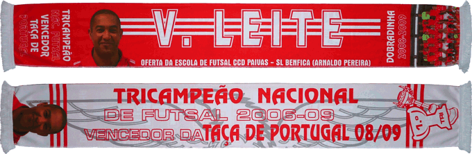 Cachecol Benfica Futsal Victor Leite