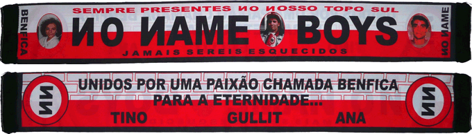 Cachecol No Name Boys Sempre Presentes Tino Gullit Ana