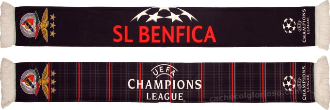 cachecol sl benfica uefa champions league negro 2013-14