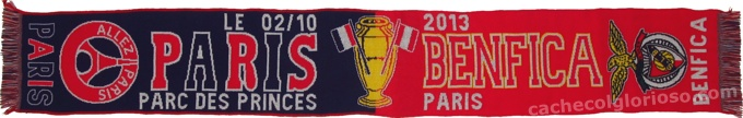cachecol benfica psg liga campeoes 2013-14