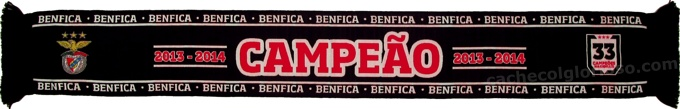 cachecol benfica campeao 2013-2014 negro