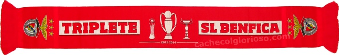 cachecol benfica triplete 2013-14