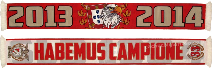 cachecol benfica habemus campione 33 2013-14