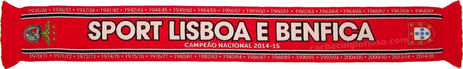 cachecol benfica bicampeoes datas