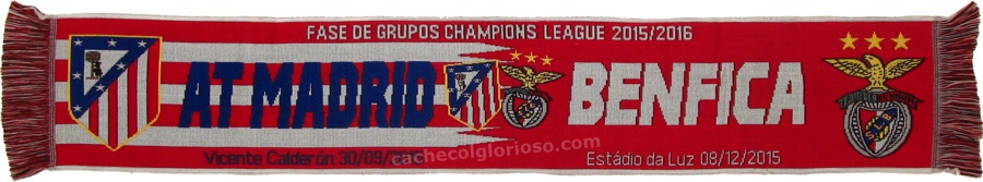 cachecol benfica atletico madrid liga campeoes 2015-16