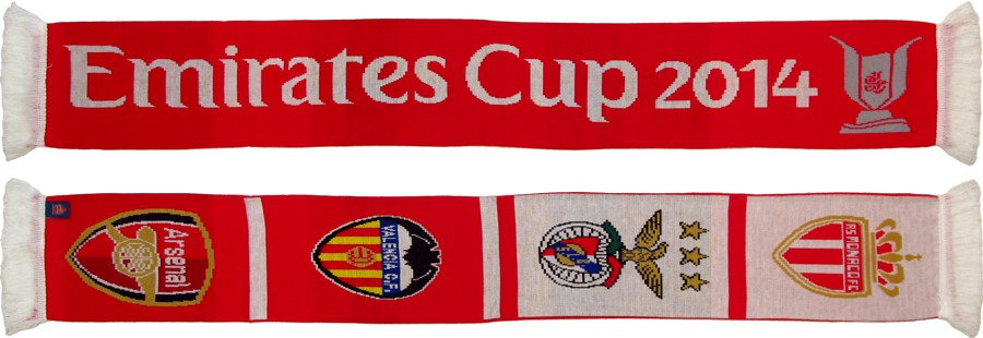 cachecol benfica emirates cup 2014
