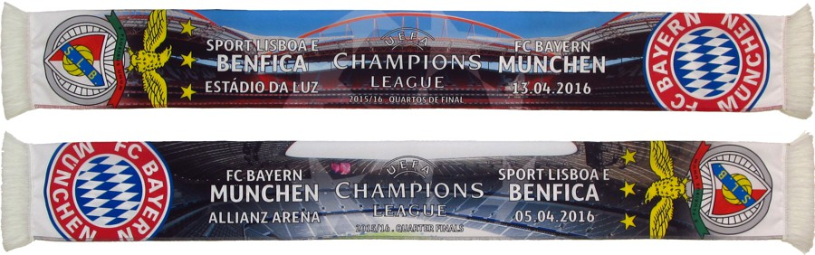 cachecol benfica bayern munchen liga campeoes 2015-16