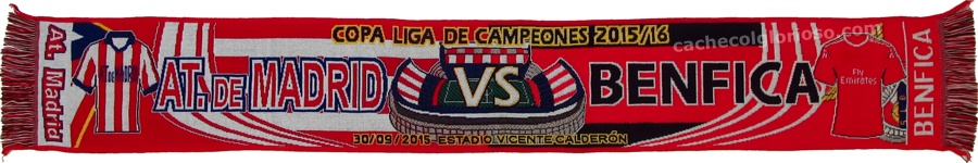 cachecol atletico madrid benfica liga campeoes 2015-16