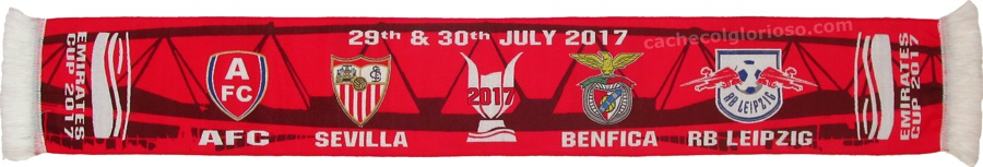 cachecol benfica emirates cup 2017