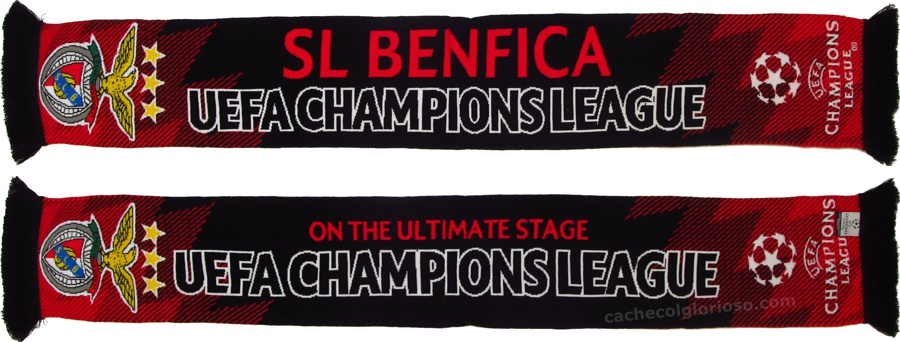 cachecol benfica uefa champions league 2017-18 on the ultimate stage